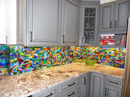 Colorful Abstract Kitchen Backsplash