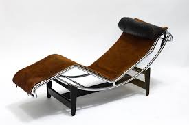 most up to date brown chaise lounge chair by le corbusier for corbusier lc4 chaise lounge