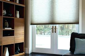 cellular shades for sliding glass doors french door light filtering cellular shade hunter douglas honeycomb blinds