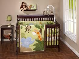 enchanting baby nursery room design with girl jungle baby bedding gorgeous baby nursery room design