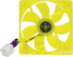 Вентилятор Cooling Baby 12025 4PS YELLOW P - LED