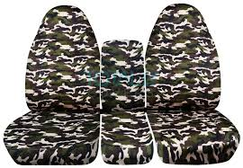 dodge ram 40 20 40 brown and green military camo seat covers