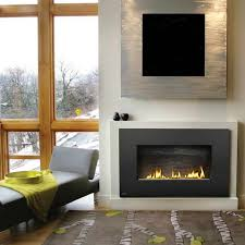napoleon vent free plazmafire wall hanging natural gas fireplace complete with slate brick panel