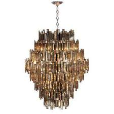 vienna collection 28 light chrome chandelier with crystal shade