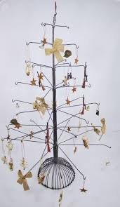 Christmas Tree Ornament Display Stands Extraordinary Metal Tree Ornament Display Stand W 32 Ornaments Rustic Cabin