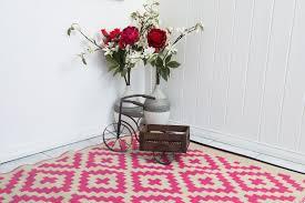 nivarna pink cream indoor outdoor rug 120x180cm