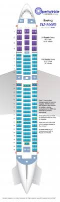 Periwinkle Boeing 767 200er Aircraft Seating Chart