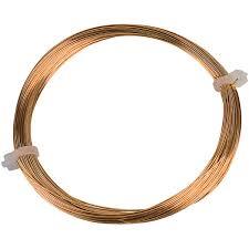 Copper Wire Diameter Chart Rvfm Gilt Copper Wire 15m X 0 4mm Dia