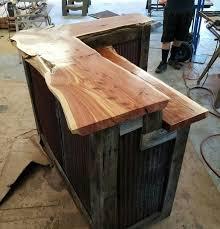 diy wood bar. Barnwood Bar With Live Edge Cedar Tops And Barn Tin Sides   Home Decor / Our Dream Pinterest Siding, Diy Wood R
