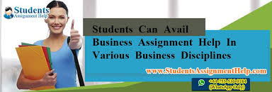 students can avail business assignment help in various business  students can avail business assignment help in various business disciplines