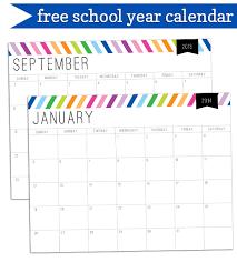 Free Printable School Calendar School Calendar Printables Hashtag Bg