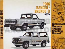 ford ranger and bronco ii factory foldout wiring diagram 1986 ford ranger and bronco ii electrical troubleshooting manual