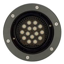 floor outdoor recessed led lighting fixture hid round decoscene philips anodized and black painted cast