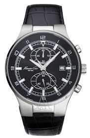 kenneth cole kc1315 chrono black dial leather men s watch watches kenneth cole men s chrono watch