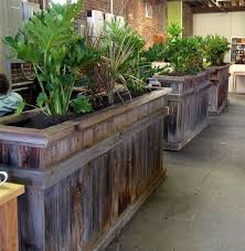 office planter boxes. reclaimed wood planter boxes open space office dividers projects pinterest planters and gardens