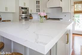 mitered edge quartz countertop