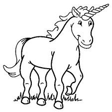 Print Eenhoorn Kleurplaat Unicorn Kinderfeestje Unicorn Coloring