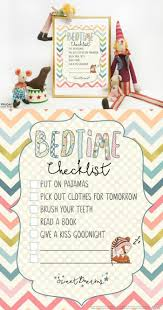 Routine Chart Ideas Diy Crafts Bedtime Checklist Printable A Cute Bedtime