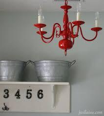 diy paint a chandelier