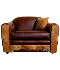 mesquite frame leather chair with turquoise inlay fully customizable western furniture and decor from rusticartistry