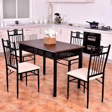 Us 12999 Goplus 5 Stück Küche Esszimmer Set Holz Metall Tisch Und 4 Stühle Küche Frühstück Moderne Esszimmer Möbel Set Hw56524 Auf Aliexpress