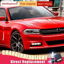 Dodge Charger Lights Us 652 05 19 Off 2pcs Led Headlights For Dodge Charger 2015 Up Led Car Lights Angel Eyes Xenon Hid Kit Fog Lights Led Daytime Running Lights In Car