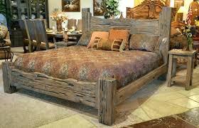 rustic grey king bedroom set sets bed furniture log size south cal