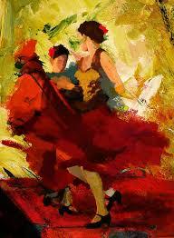 jazz painting flamenco dancer 019 by catf