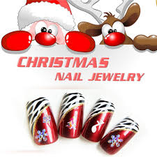 12 Pcs Colorful Christmas Nail Art Decorations Acrylic Tips Decals ...