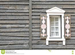 Holzhaus Wand In Der Weinlese Modernen Rustikalen Art Mit Fenster