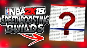 Speed Boosting Chart 2k19 Nba 2k19 All Speed Boosting Builds Game Changing