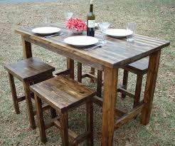 distressed wood furniture diy. Awesome Reclaimed Wood Bar Height Table Distressed Furniture Diy