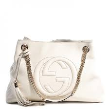 gucci bags white. gucci leather medium soho chain shoulder bag off white gucci bags