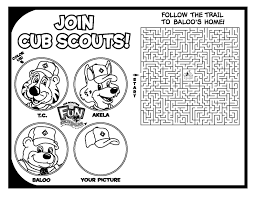 Tiger Cub Scouts Coloring Pages