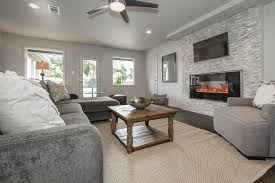 Contemporary Family Room with Tile fireplace, Regency Horizon HZ40E Medium  Gas Fireplace, Hardwood floors