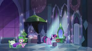 Twilight And Spike In Empire Bedroom EG.png