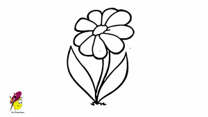 Small Picture Simple Flower Drawing How to draw Flower Very Easy YouTube