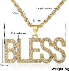 Anyway, we hope it will bring happiness to you!! Trendsmax Bless Letter Necklace For Women Men Gold Pendant Necklace Iced Out Cz Hip Hop Jewelry Dropshipping Gifts Gp112 Buy On Zoodmall Trendsmax Bless Letter Necklace For Women Men Gold Pendant Necklace