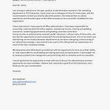 Sample Cover Letter For Administrative Assistant Administrative Assistant Cover Letter Examples