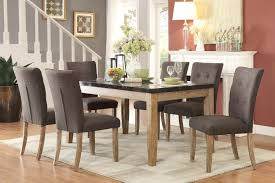 weathered wood dining table. Homelegance Huron Dining Set - Faux Marble Top Weathered Wood Table