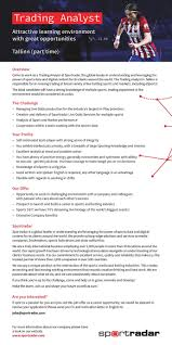 Cv For Part Time Job Job Ad Trading Analyst Part Time Tallinn Part Time Work