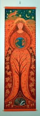 Beautiful Earth Goddess - Fabric Hanging from the wonderful Wendy Andrews |  Bilder, Kunst, Wandbilder