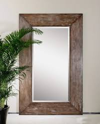 Amazon.com: Extra Large Wall Mirror Oversize Rustic Wood XL Luxe Full  Length Floor Leaner: Home & Kitchen