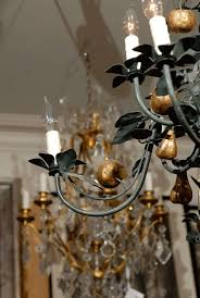 vintage italian tole chandelier with gilt fruit in good condition for in atlanta ga