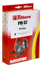 <b>Мешки</b>-<b>пылесборники Filtero PHI 02</b> (4) Standard купить недорого ...