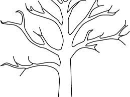Small Picture Tree Without Leaves Coloring Page Virtrencom