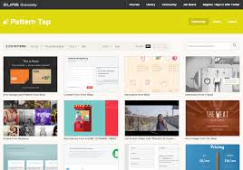 sites for web design inspiration totally communications pattern tap makes it to the list for being original instead of only showcasing complete site designs it focuses on individual aspects of user interface