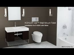 installation veil toilet with reveal