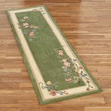 fl bouquet rug runner deep sage