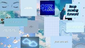 Aesthetic Blue Desktop Wallpapers - Top ...